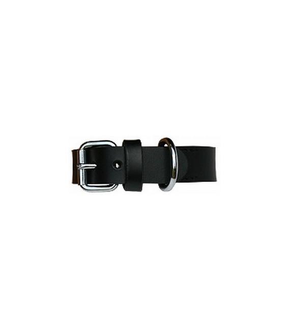 Halsband Plain black/silver 35cm x20mm