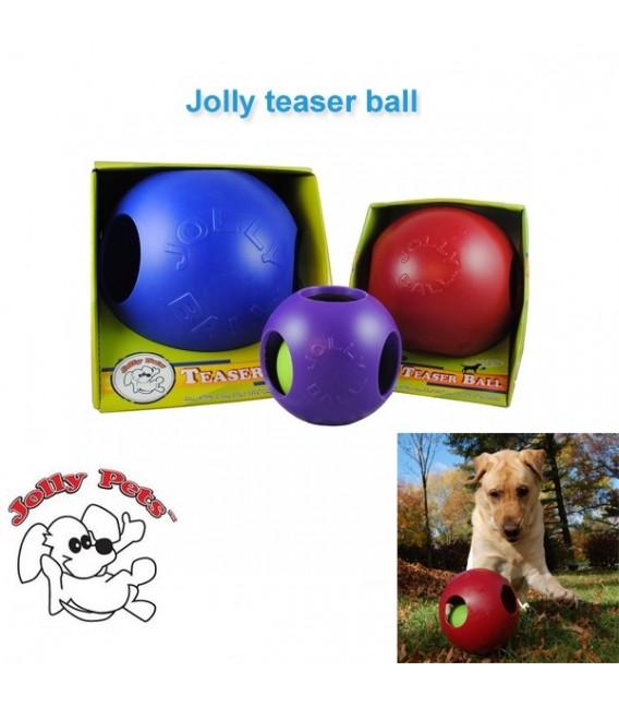 Jolly teaser ball 20cm kleur rood