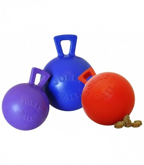 Jolly Tug-n-Toss Mini Traktatie Dispenser 7,5cm Rood