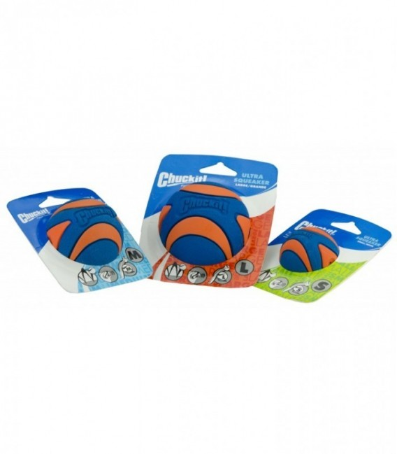 Chuckit Ultra Squeaker Ball Medium 2-pack
