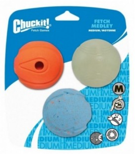 Chuckit Fetch Medley Medium 3-pack