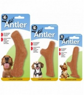 Pet Qwerks Nylon Chicken Antler Small