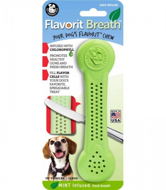 Pet Qwerks Flavorit Nylon Breath Bone Large