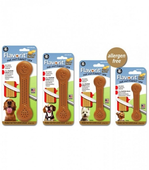 Pet Qwerks Flavorit Nylon Peanut Butter Bone XLarge