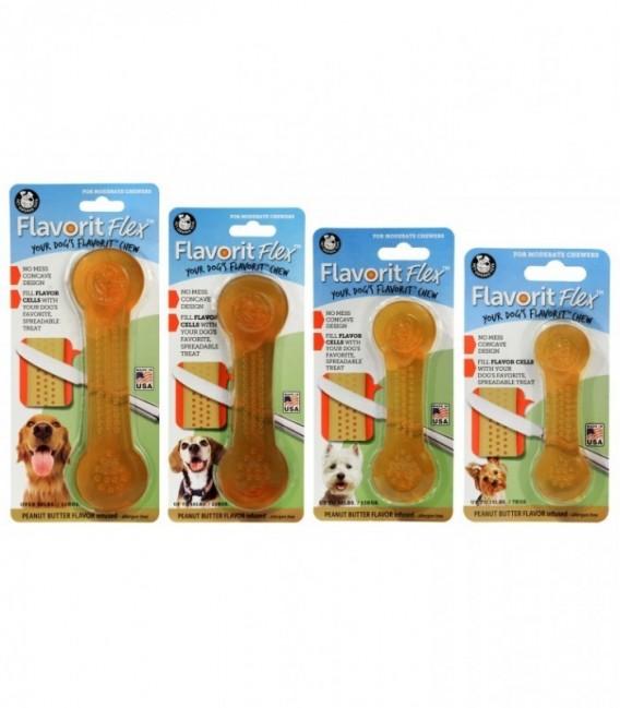 Pet Qwerks Flavorit Flex Peanut Butter Bone XLarge