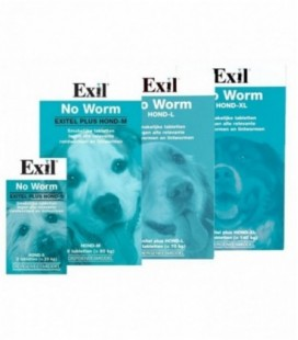 Exil No Worm Hond XL 4 tabl.