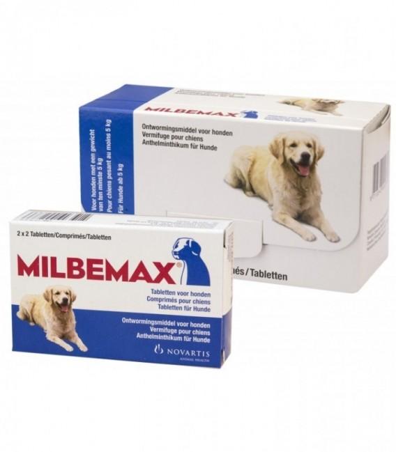 Milbemax Hond Groot 4 tabl. 5-75kg