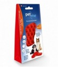 Pet+Me Dog long hair brush red