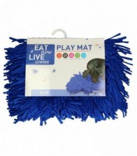 Eat Slow Live Longer Play Mat Blue
