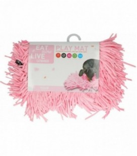 Eat Slow Live Longer Play Mat Pink