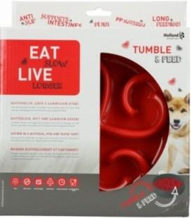 Eat Slow Live Longer Tumble Feeder Red