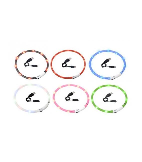 karlie visio light led halsband, USB oplaadbaar.
