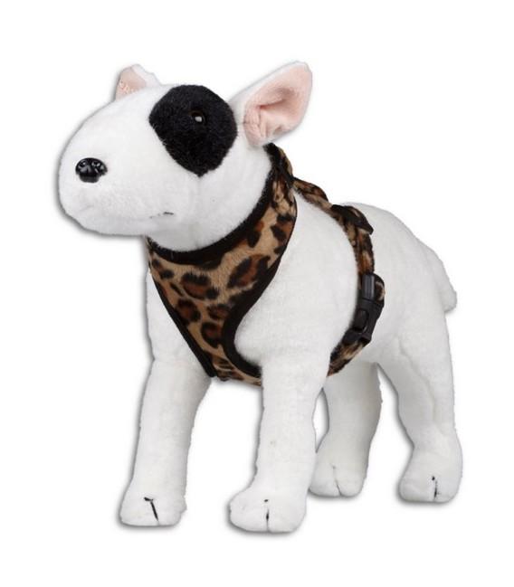 T harness leopard brown XS